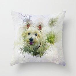 West Highland White Terrier Throw Pillow