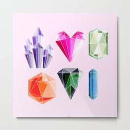 Crystal and Gemstones Vol 2 Metal Print