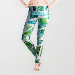 Coastal Mosaic Bright Leggings