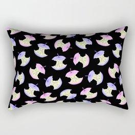 Neon apples black Rectangular Pillow