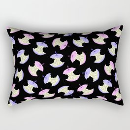 Neon apples black Rectangular Pillow