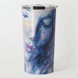Woman Inside Travel Mug