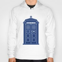 blueprint Hoodies featuring TARDIS Blueprint - Doctor Who by BeckiBoos