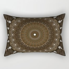 Mandala in different brown tones Rectangular Pillow