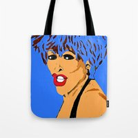 tina Tote Bags featuring Tina by Saundra Myles