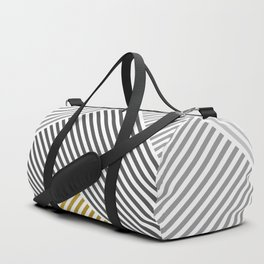 Black and Gold Linear Pattern Duffle Bag
