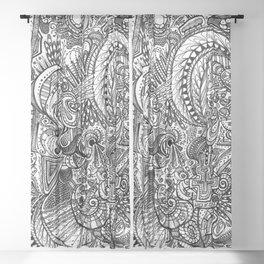 Doodle Sheer Curtain