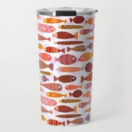 School of tropical fish pattern Travel Mug
