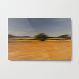 Moving Linseed Metal Print