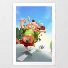 Dooog! Art Print