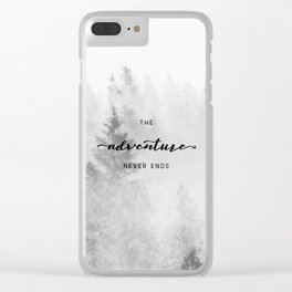 The Adventure Never Ends Clear iPhone Case