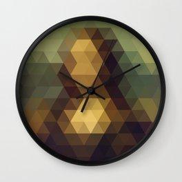 Mona Lisa Triangle Art Wall Clock