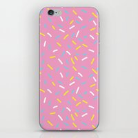sprinkles iPhone & iPod Skins featuring Sprinkles by Diana Willett
