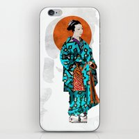 geisha iPhone & iPod Skins featuring Geisha by Steve W Schwartz Art