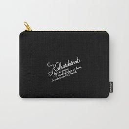Kalsarikännt   [black & white] Carry-All Pouch