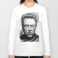 christopher walken Long Sleeve T-shirts featuring Christopher Walken Portrait by joeandersonart