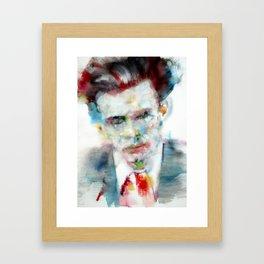 ALDOUS HUXLEY - watercolor portrait Framed Art Print