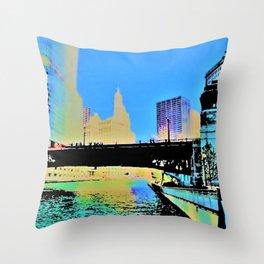 Chicago Bridge Throw Pillow