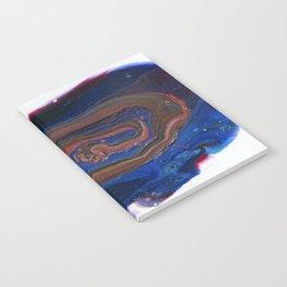 Fluid Acrylic VIII - Negative space fluid pour painting Notebook