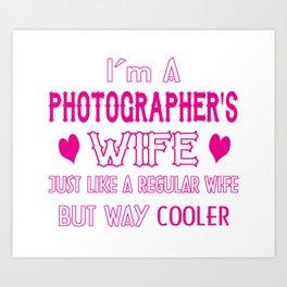 Photographer's Wife Art Print