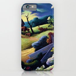 Classical Masterpiece 'June Morning, 1945' by Thomas Hart Benton iPhone Case