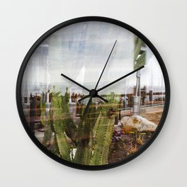 Cactus Ocean Abstraction Wall Clock