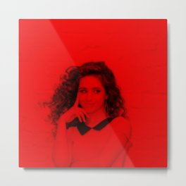 Camila Cabello - Celebrity (Florescent Color Technique) Metal Print