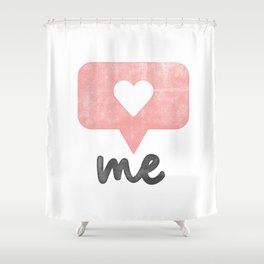 Love Your Self Shower Curtain