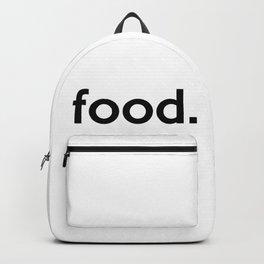 food. Backpack