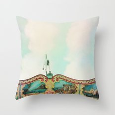 Summer Carousel Throw Pillow