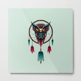 Owl Bird Dreamcatcher Art Metal Print
