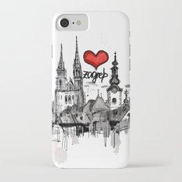 I love Zagreb iPhone Case