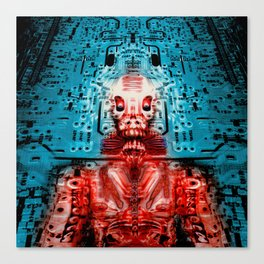 Sir Circuity's sartorial cybernetics Canvas Print