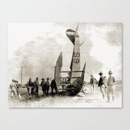 Plane crash Canvas Print
