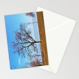 The Tree by the Frozen Lake Stationery Cards