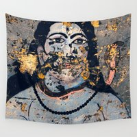 hindu Wall Tapestries featuring Hindu mural by Rick Onorato