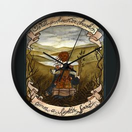 With a heavier back comes a lighter spirit Wall Clock