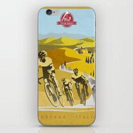 Strade Bianche retro cycling classic art iPhone Skin