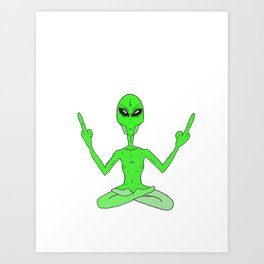 F YOUR SPACE Art Print