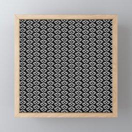 Black & White Spooky Eyes Framed Mini Art Print