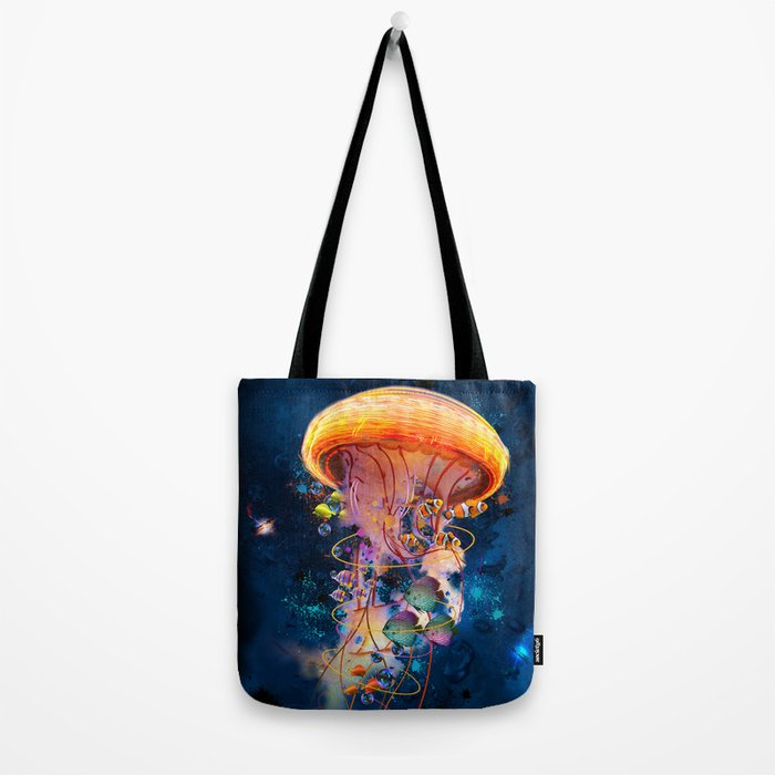 Electric Jellyish World Tote Bag