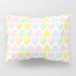 Candy Hearts Pattern Pillow Sham