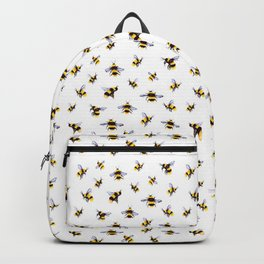Bumblee Bee Watercolor Pattern Backpack