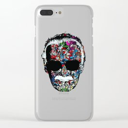 stanlee face Clear iPhone Case