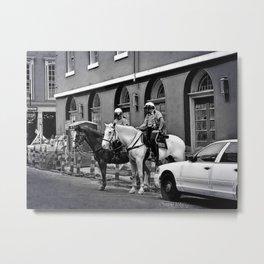 Mounted Police, NOLA Metal Print
