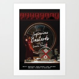 Inglorious Basterds alternative movie poster Art Print
