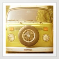 volkswagon Art Prints featuring Retro VW by ShadeTree Photography