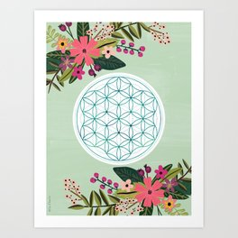 Sacred Geometry 2, Flower of Life Art Print