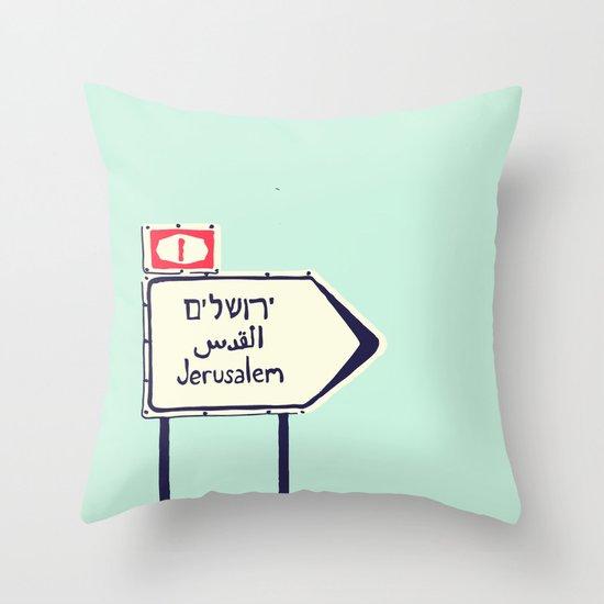 Jerusalem This Way Throw Pillow