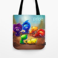 pride Tote Bags featuring Pride by TsaoShin